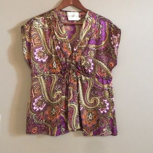 Alice and Trixie 100% silk bohemian style top